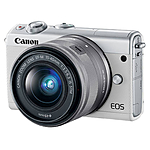 Canon EOS M100 Mirrorless Digital Camera with 15-45mm Lens (White)