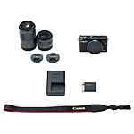 Canon EOS M100 Mirrorless Digital Camera with 15-45mm  and  55-200mm (Black)