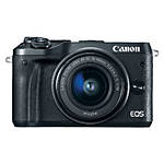Canon EOS M6 Mirrorless Camera with 15-45mm f/3.5-6.3 IS STM Lens - Black