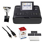 Canon SELPHY CP1300 Compact Photo Printer (Black) w/ KP-108, Cloth,  and  Cable