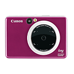 Canon IVY Cliq+ Instant Camera Printer + App (Ruby Red)