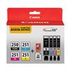 Canon PGI-250/CLI-251 4 Color Combo Pack for Canon Pixma MG6620 and MX922