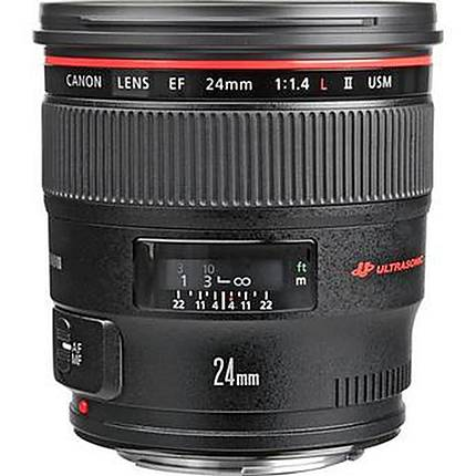 Canon EF 24mm f/1.4L II USM Wide Angle Lens - Black