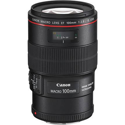 Canon EF 100mm f/2.8L IS USM Macro Lens - Black