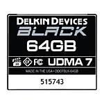 Delkin Devices 64GB CF Black 160MB/s Read 120MB/S Write UDMA 7