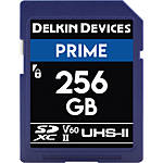 Delkin Devices 256GB Prime SDXC UHS-II V60 300MB/s Read 100MB/s Write