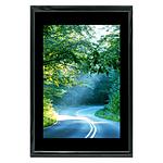 12x18 Custom Black Metal Frame, Black Mat with Glass