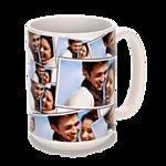 15 oz. White Ceramic Tiled Photo Mug