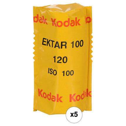 Kodak Professional Ektar 100 Color Negative Film (120 Roll Film, 5 Pack)