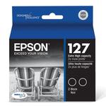 Epson 127 Dual Pack Extra High-Capacity DuraBrite Ultra Black Ink Cartridger