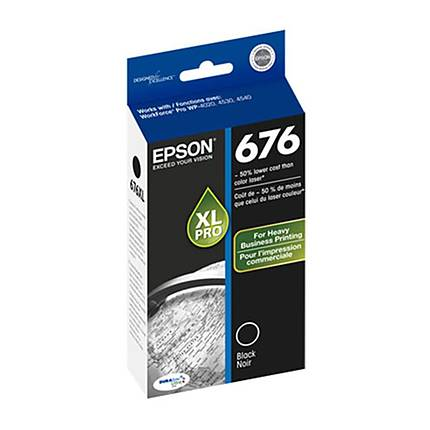 Epson 676 xL DuraBrite Ultra Black Ink Cartridge for Workforce Printers