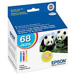 Epson 68 High-Capacity Multi-Pack Color DURABrite Ultra Ink Cartridges