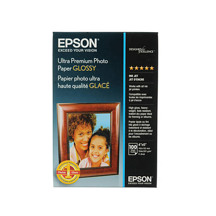 Epson 4x6 Ultra Premium Glossy Photo Paper - 100 Sheets