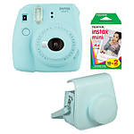 Fujifilm Instax Mini 9 Ice Blue Camera with Film  and  Groovy Case