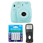 Fujifilm Instax Mini 9 Ice Blue Camera with Batteries  and  Battery Charger