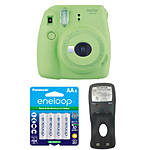 Fujifilm Instax Mini 9 Lime Green Camera with Batteries  and  Battery Charger