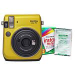 Fujifilm Instax Mini 70 Camera Canary Yellow  and  Instax Mini Film Twin Pack