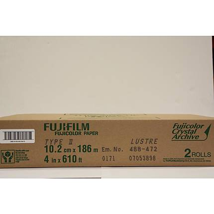 Fujifilm 4 In. x 610 Ft. Paper Crystal Archive Type II Lustre (1 Roll)