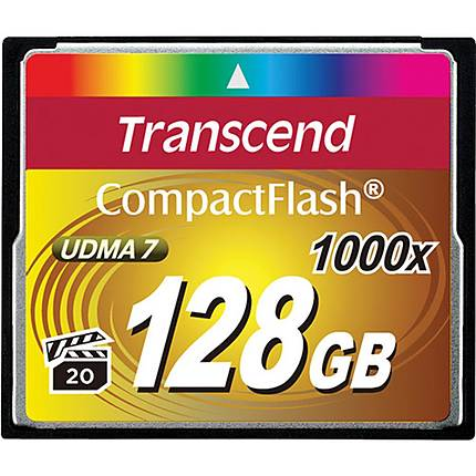 Transcend 128GB 1000x Compact Flash Card