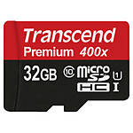 Transcend 32GB UHS-1 Class 10 Micro SDHC Memory Card