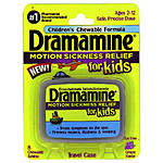Dramamine Kids Chewable 8ct Grape Motion Sickness Relief