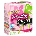 Playtex Sport Tampons 18ct Super Unscented Unique Contour Applicator