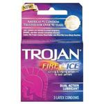 Trojan Condoms 3pk Fire  and  Ice Dual Action Lubricated