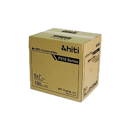 HiTi P510 5 x 7 Paper  and  Ribbon Case (380 Prints) For P510