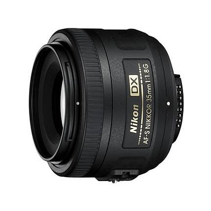 Nikon AF-S DX Nikkor 35mm f/1.8G Prime Lens for DX-format cameras - Black