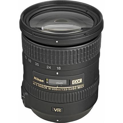 Nikon AF-S DX Nikkor 18-200mm f/3.5-5.6G ED VR II Telephoto Lens - Black