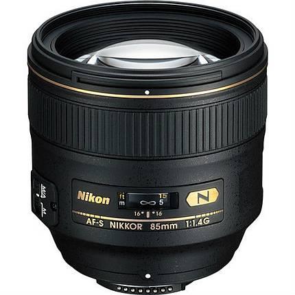 Nikon AF-S Nikkor 85mm f/1.4G Portrait Lens - Black