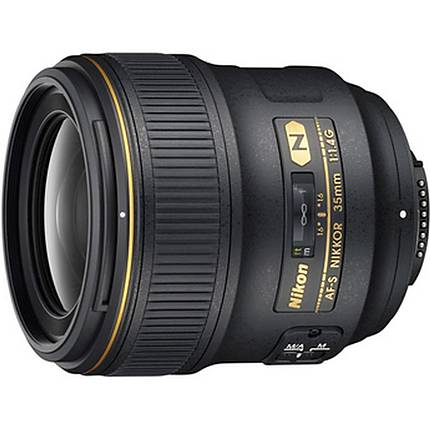 Nikon AF-S Nikkor 35mm f/1.4G Wide Angle Lens - Black