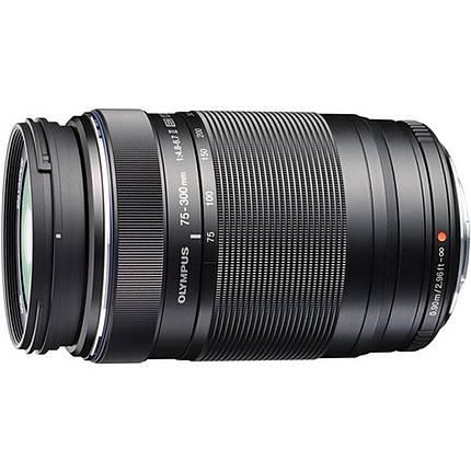 Olympus M.Zuiko ED 75-300mm f/4.8-6.7 II Telephoto Zoom Lens - Black