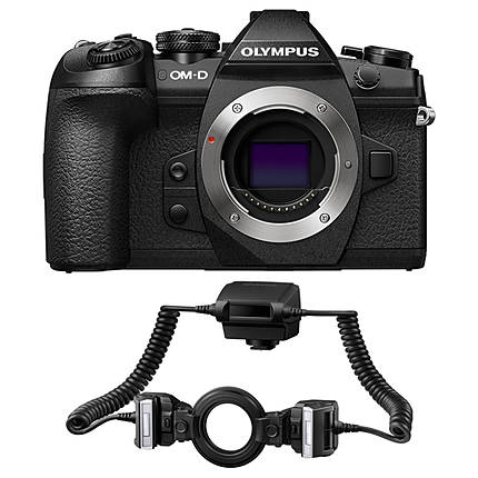 Olympus OM-D E-M1 Mark II Mirrorless 4/3 Camera with STF-8 Twin Flash