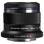 Olympus M.Zuiko Digital 45mm f/1.8 Portrait Lens - Black