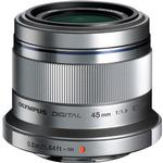 Olympus M.Zuiko 45mm f/1.8 Portrait Lens for Micro 4/3 System - Silver