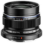 Olympus M.Zuiko Digital ED 12mm f/1:2.0 Wide Angle Lens - Black