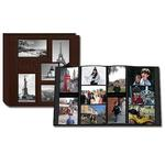 Pioneer 5-up Collage Embossed Travel Photo Album - Brown (240 4x6 photos)
