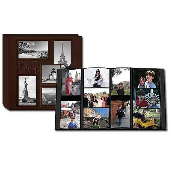 Pioneer 5 Up Collage Embossed Travel Photo Album Brown 240 4x6