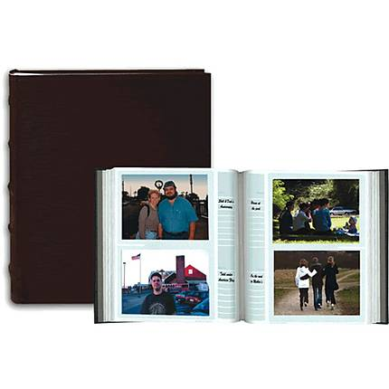 Pioneer 4 X 6 In Sewn Leather Bi Directional Photo Album 200