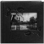 Pioneer 4 x 6 In. Embossed Leather Frame Photo Album (200 Photos)-Black Ivy