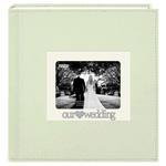 Pioneer 4 x 6 In. Wedding 3D Metal Applique Frame Sewn Album (200 Photos)
