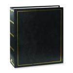 Pioneer Solid Cover Magnetic 3 Ring Photo Album (100 Photos) - Black