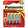 Panasonic Alkaline Plus AA 8 Pack Batteries