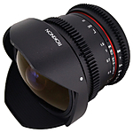 Rokinon 8mm T/3.8 Fisheye Cine Lens with Removable Hood for Sony E