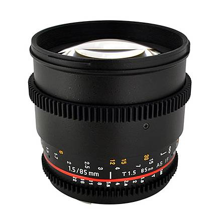 Rokinon 85mm T1.5 Cine Aspherical Lens for Canon - Black