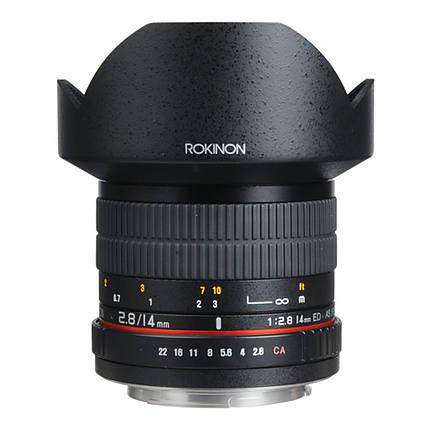 Rokinon 14mm f/2.8 IF ED UMC Lens For Canon EF