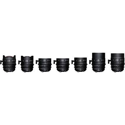 Sigma T2/T1.5 FF 7 Lens Kit with Case (PL)