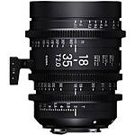 Sigma 18-35mm T2 High-Speed Zoom Lens (Canon EF, Metric)