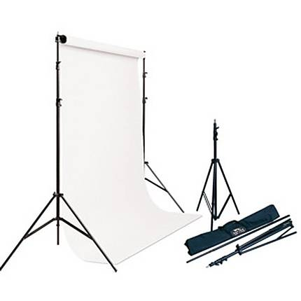 Savage Background Port-A-Stand with Case and white #50 backround (53X36)